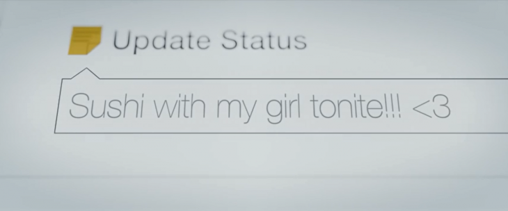 This video is depressing, but reminds us that Facebook statuses can be lies