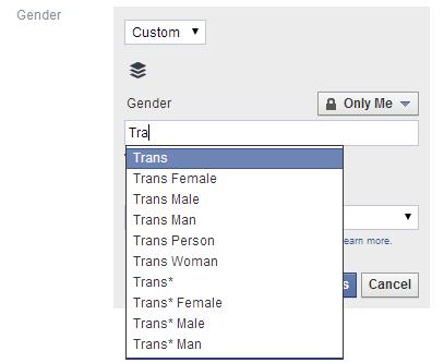 FacebookGender