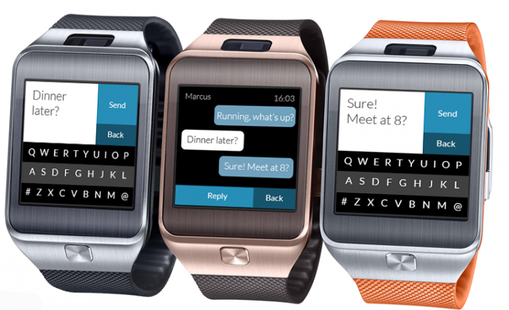 Fleksy Keyboard for Samsung Gear 2 Smartwatch