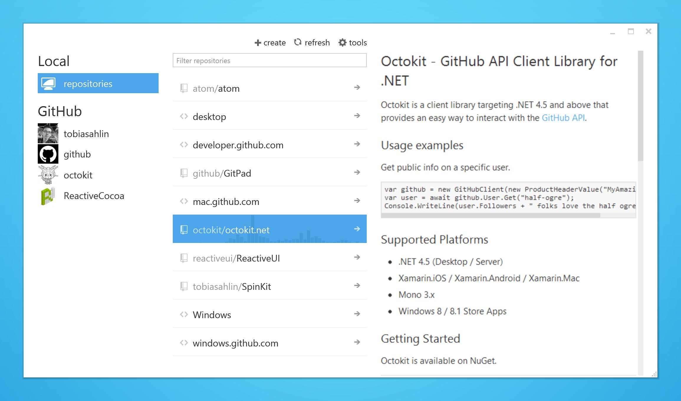GitHub for Windows 1_3_3 screenshot