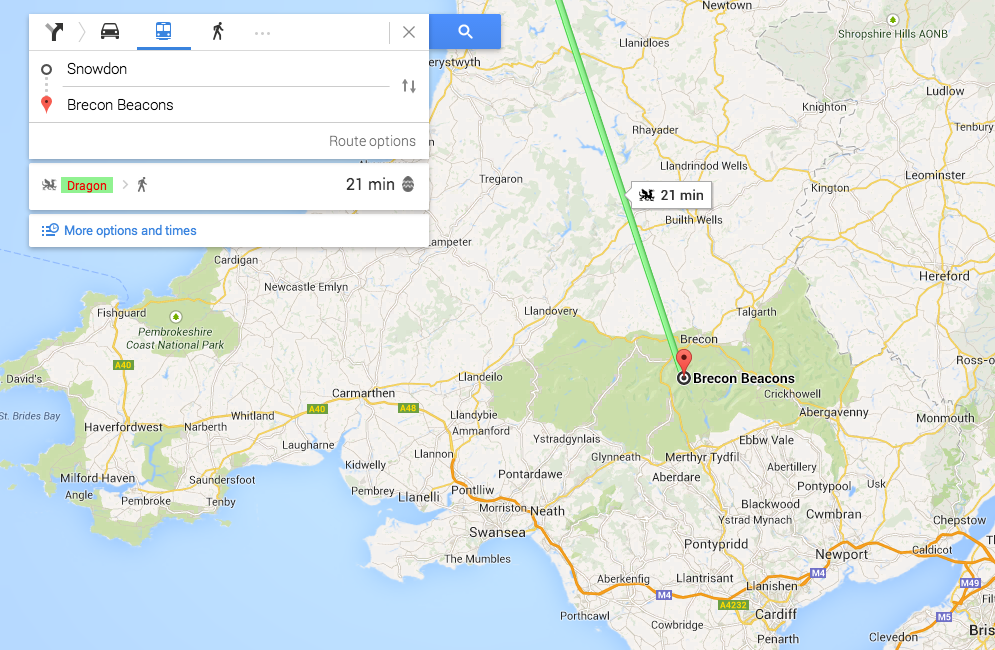 Loch ness monster and dragon arrive as google maps easter eggs screen shot 2014 06 04 at 100618 gumiabroncs Images