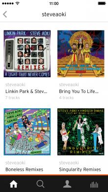 SoundCloud playlists