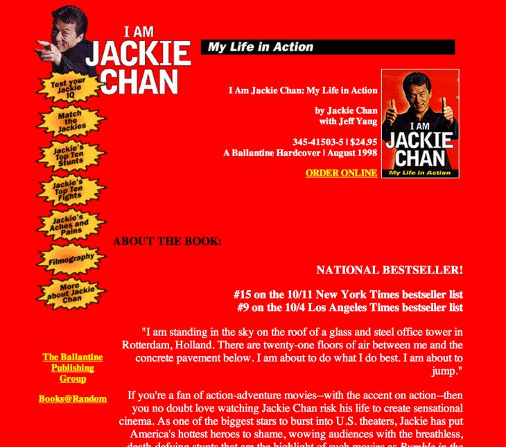 Biographie de Jackie Chan