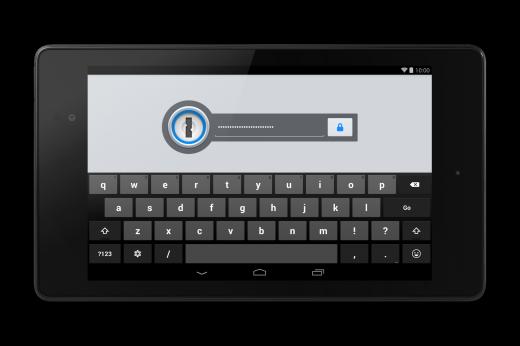 1Password Lock Screen