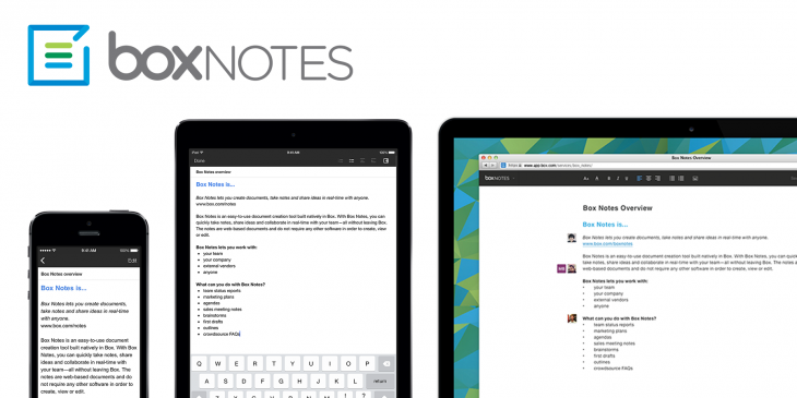 Box brings its notes service to ios for Document collaboration app