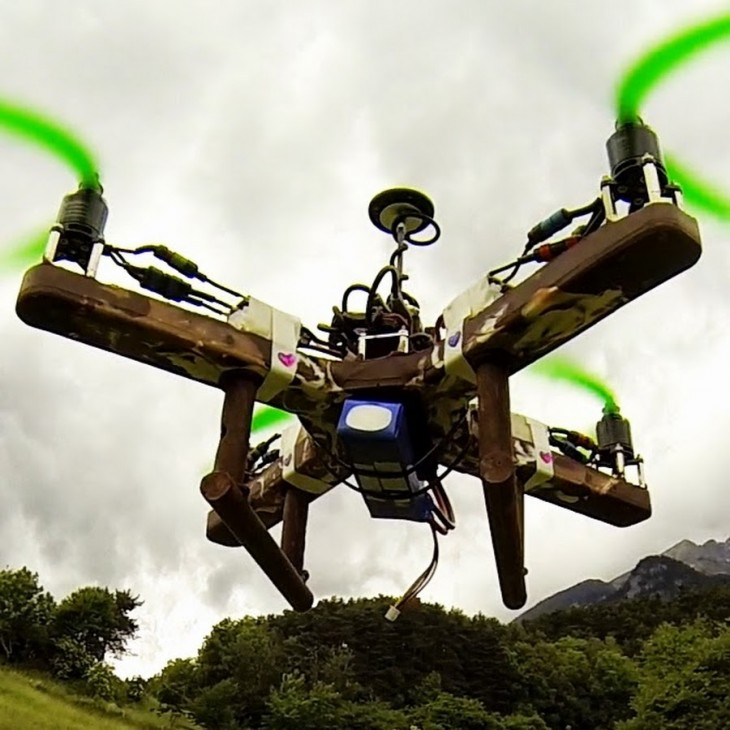 This quadcopter is made out of chocolate