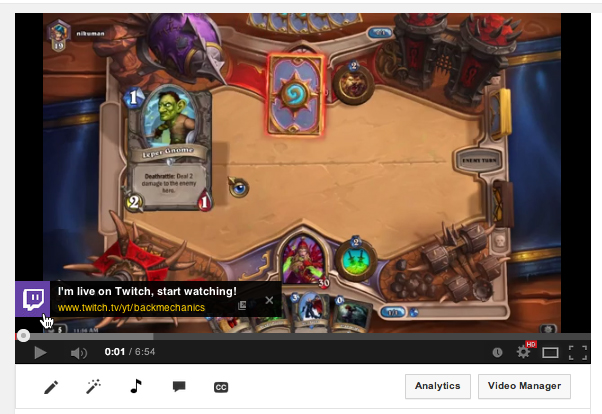 Twitch now lets broadcasters notify YouTube viewers when they're streaming live