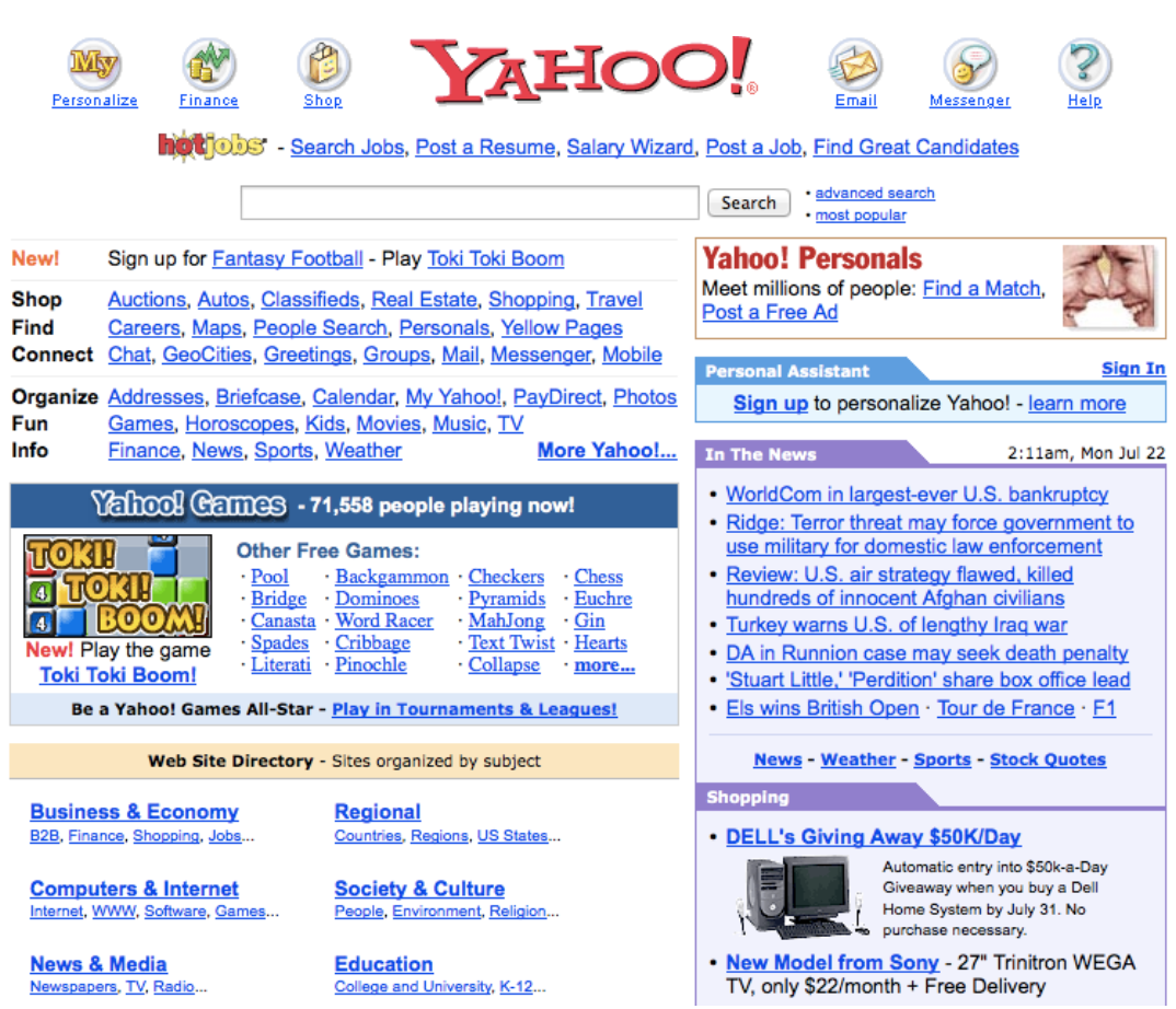 Aol Finance Stock Quotes Websites Through The Ages Tracking Aol Yahoo And Espn