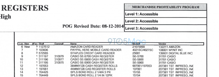 9to5 Amazon Reader 730x257 A leaked document reportedly suggests Amazon is preparing to launch a mobile credit card reader
