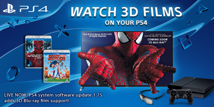 BtstpKUCQAAo8OW Sonys PlayStation 4 now supports 3D Blu ray films
