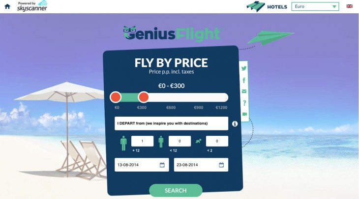GeniusFlight homepage