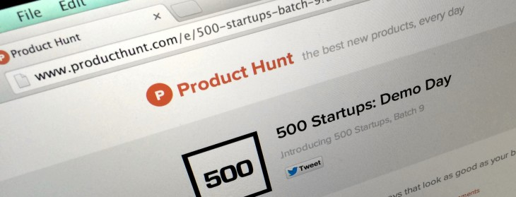 Product Hunt's first custom leaderboard lets you help rank the teams at today's 500 Startups ...