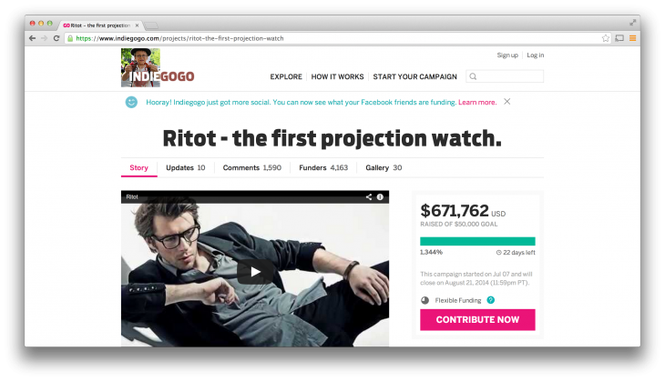 The team behind dubious projection watch Ritot: 'If all goes according to our plan, then it's ...