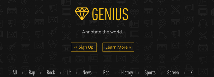 Rap Genius rebrands as Genius as it evolves into a full-fledged annotation platform