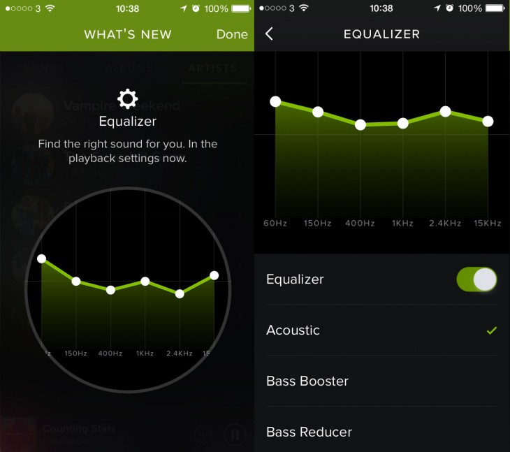 Spotify Adds Equalizer To Its Ios App