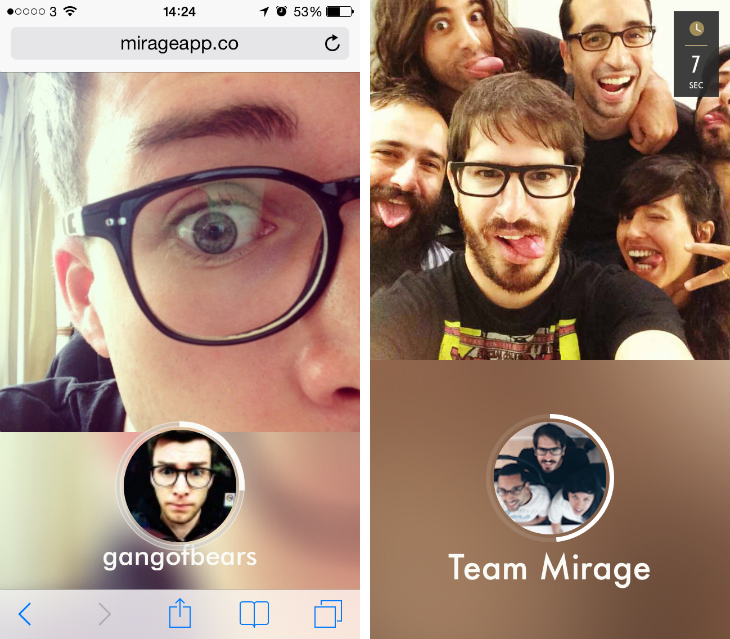 mirage2 Mirage is a Taptalk style messaging app from Mobli, the company where Yo was born