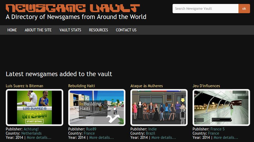 newsgame vault