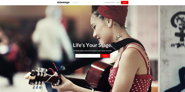 sidestage 730x362 Sidestage helps you book bands and musicians for all your events