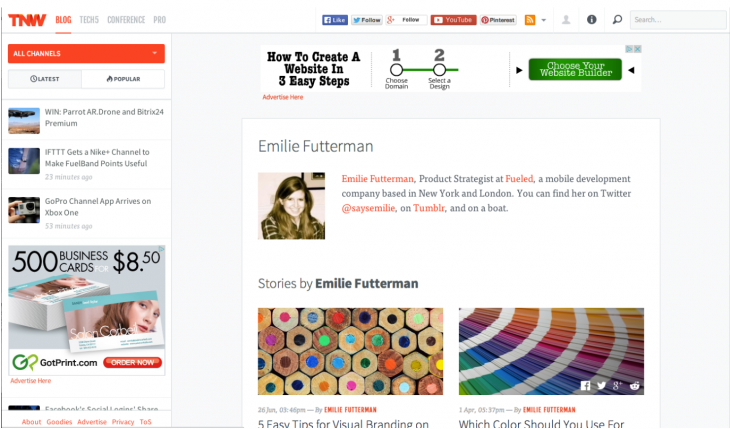 tnw screenshot 730x429 The beginners guide to organizing content on mobile friendly designs