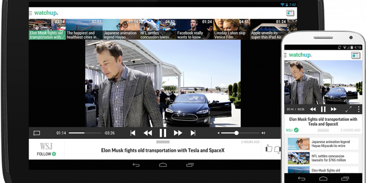Watchup brings its video news app to Android phones