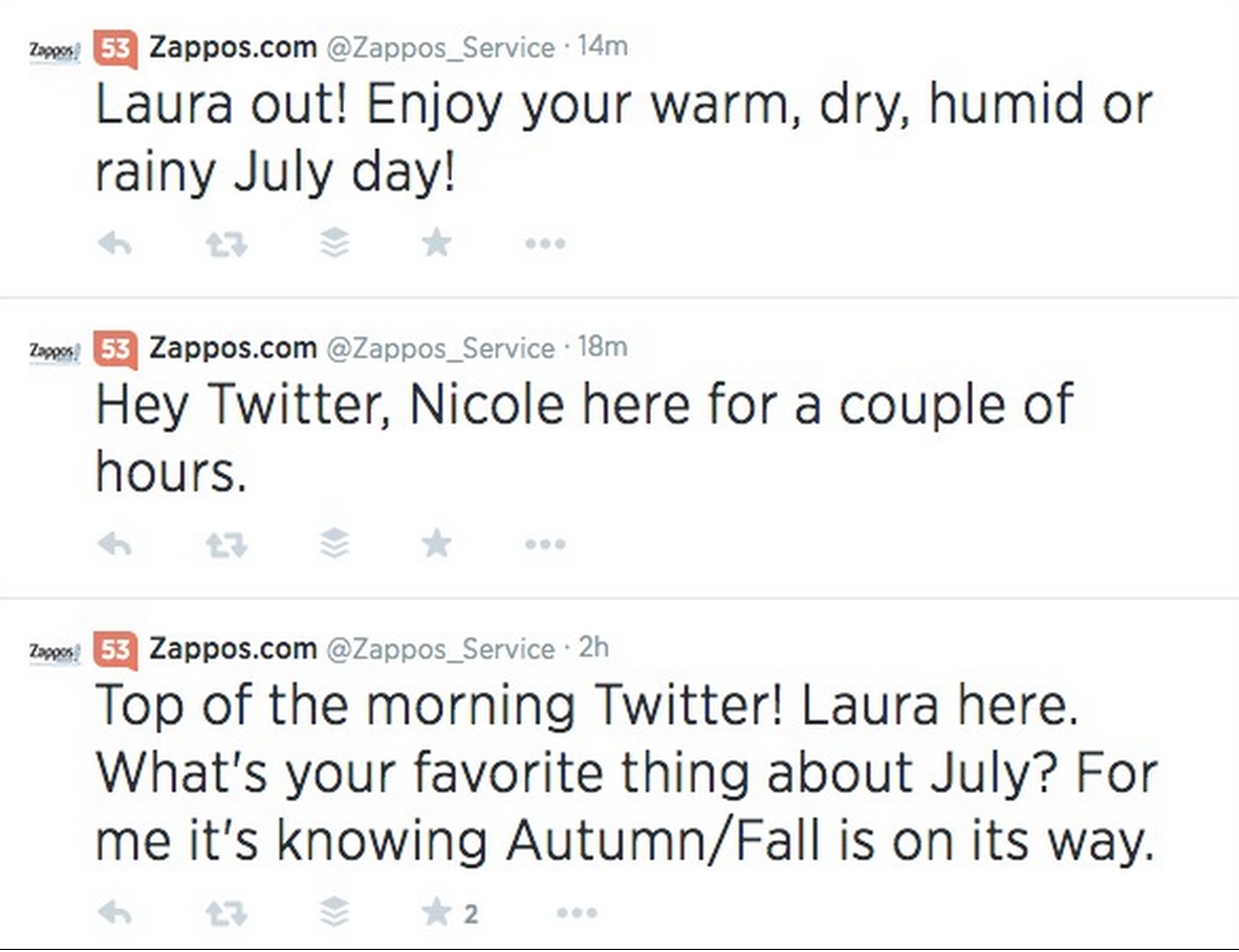 5 strategies behind awesome social media customer service zappos service representatives also set the standard for being personable on social media they cheerfully sign on and off and routinely offer