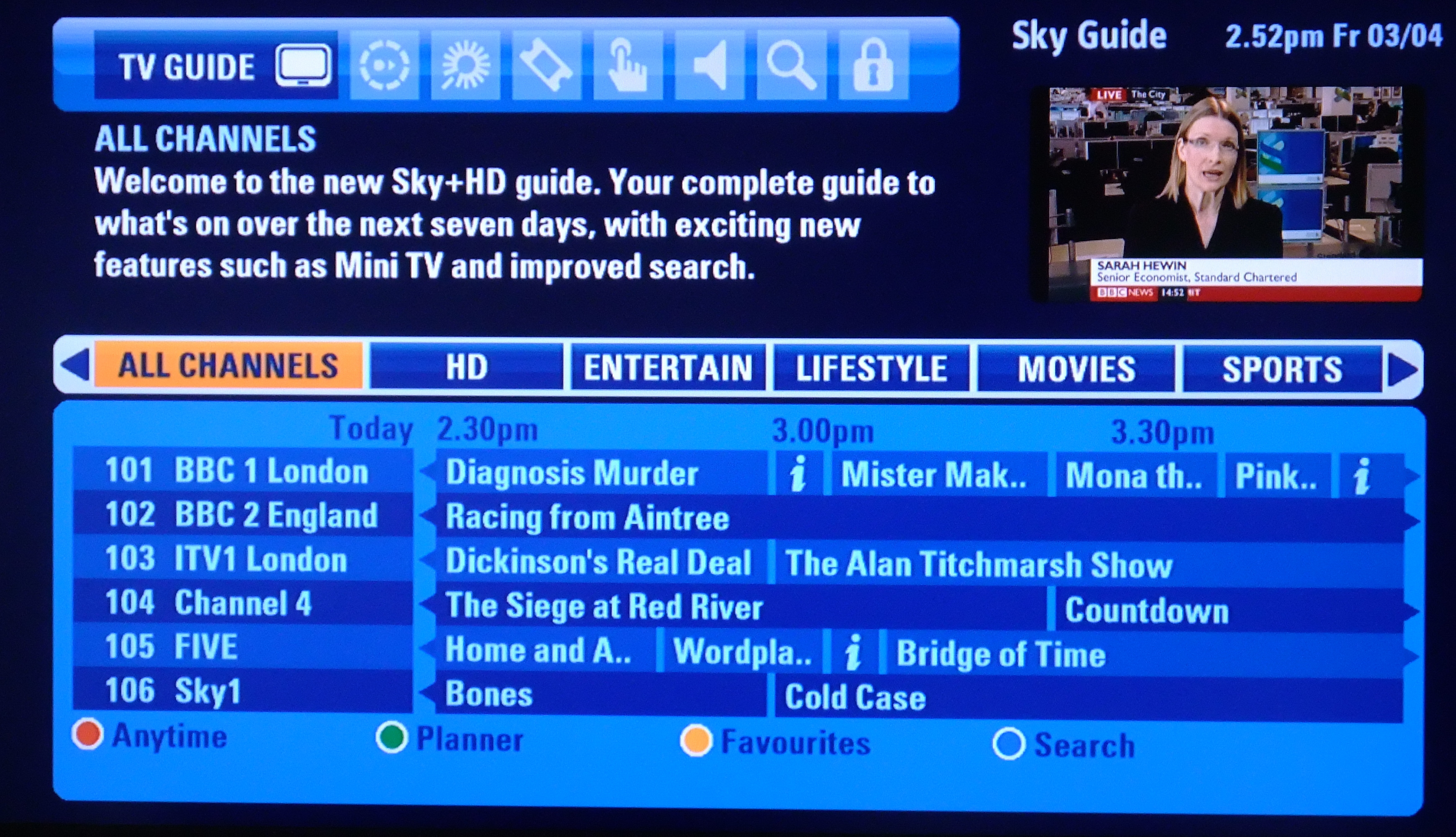 The Adult Channel UK Daily TV Guide: