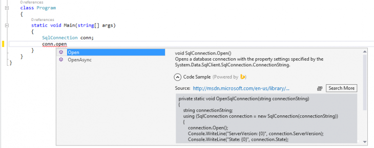 5282.BingDeveloperAssistantforVisualStudio-Screenshot1
