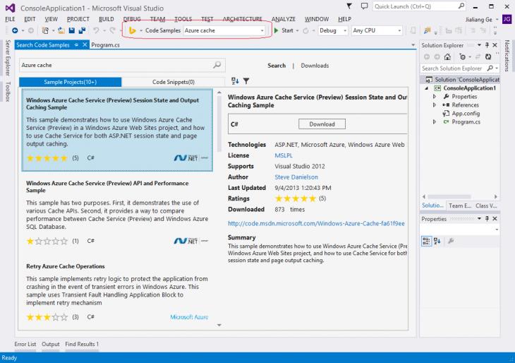 6254.BingDeveloperAssistantforVisualStudio-CodeSamplesScreenshot