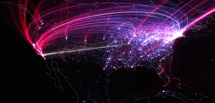 A fascinating visualization of how culture expanded around the world