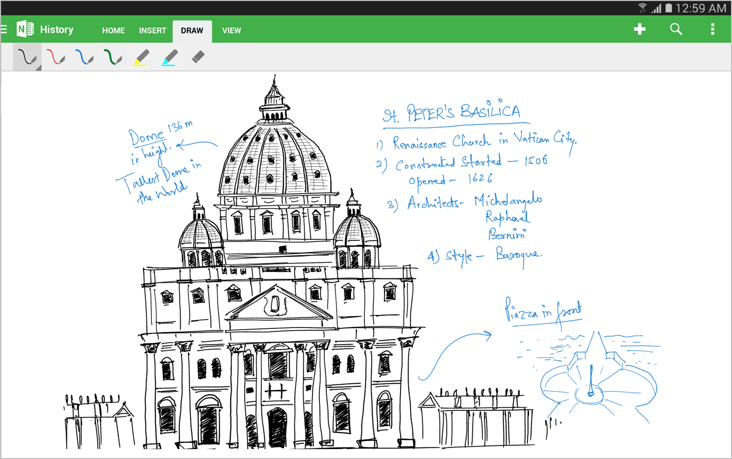 Drawing Lines In Onenote : Microsoft updates onenote for android with support tablets
