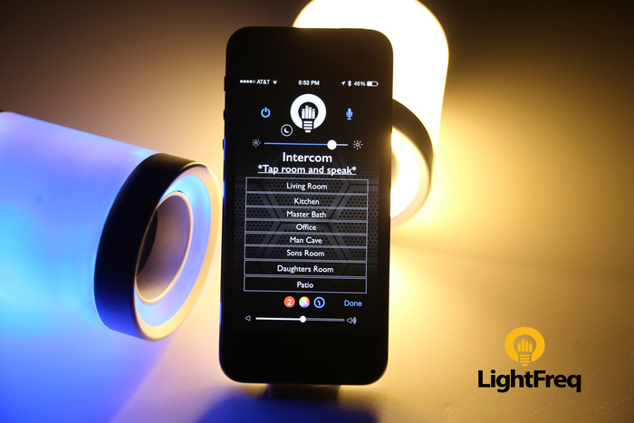 LightFreq's Crazy Light Bulb Combined with a Speaker Lands on Kickstarter
