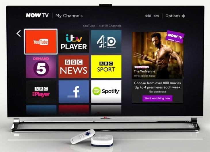 Sky's NOW TV app for Android and iOS lets you watch on the big screen via Chromecast
