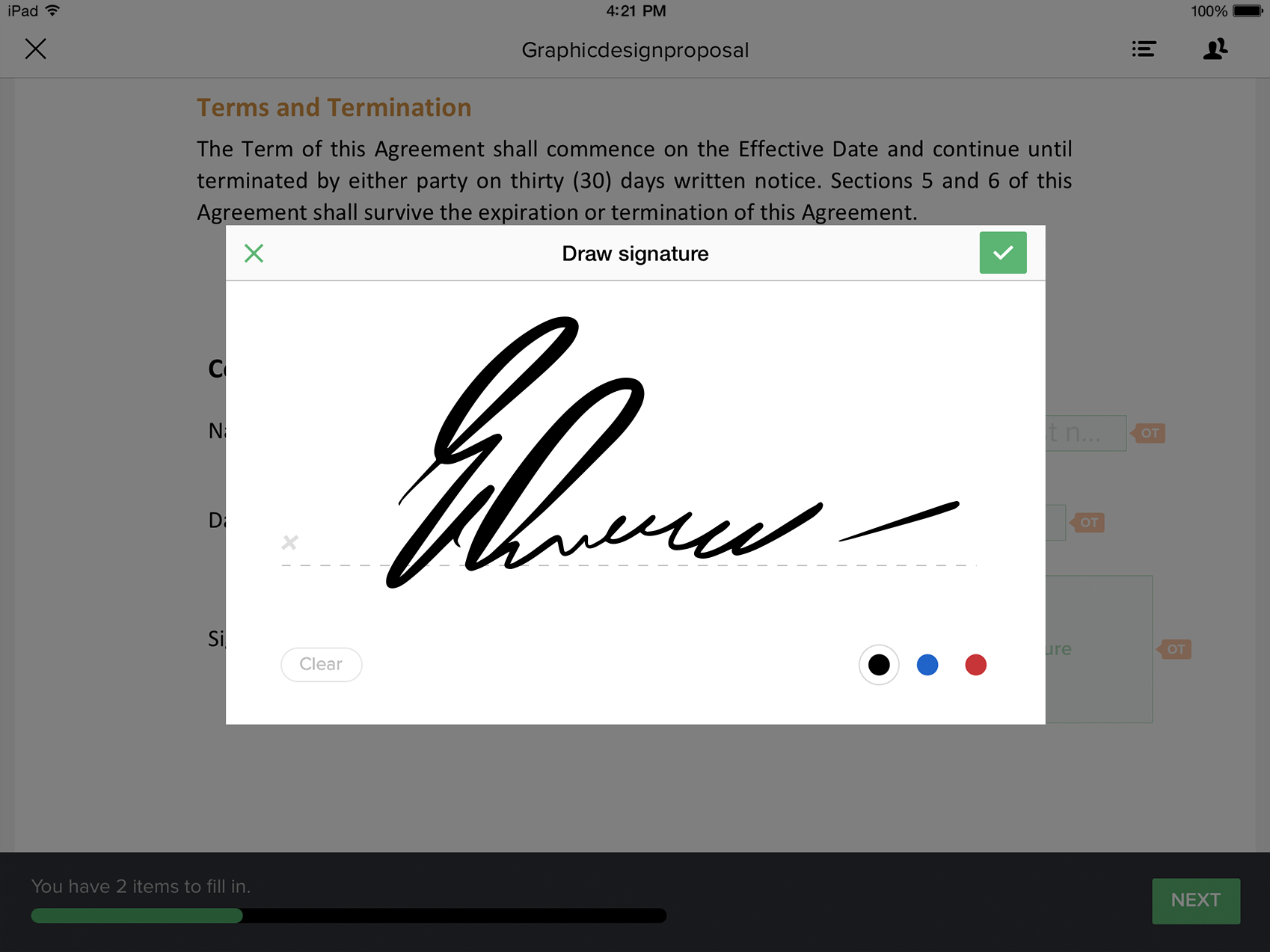 app to electronically sign pdf