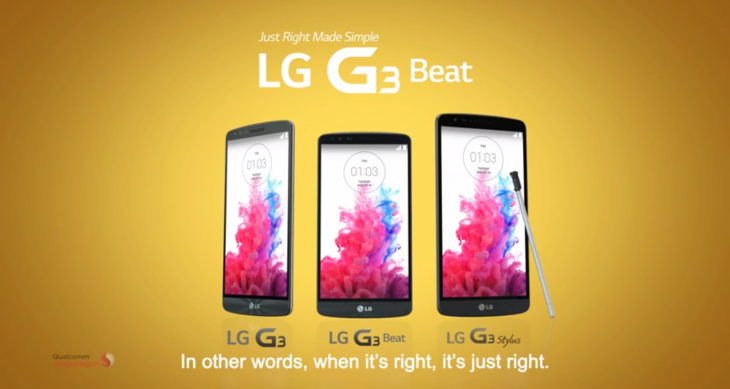LG's large G3 Stylus smartphone leaks in new G3 Beat video ad