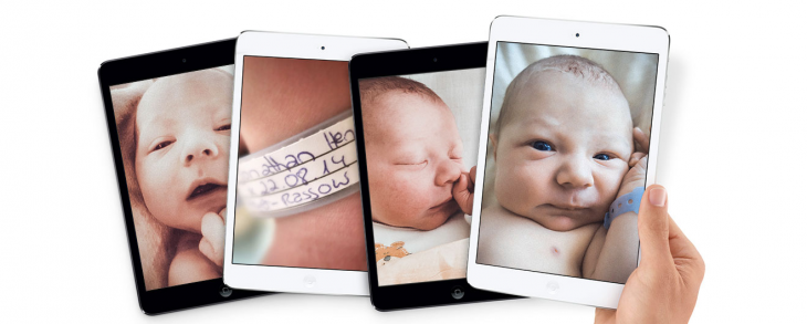 Here's how true Apple fanboys should introduce a newborn baby to the world