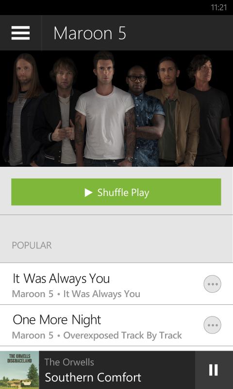 Spotify Artist View