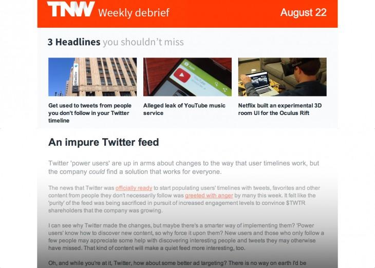 TNW Weekly