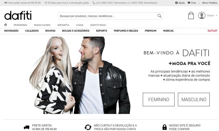 dafiti brasil home page