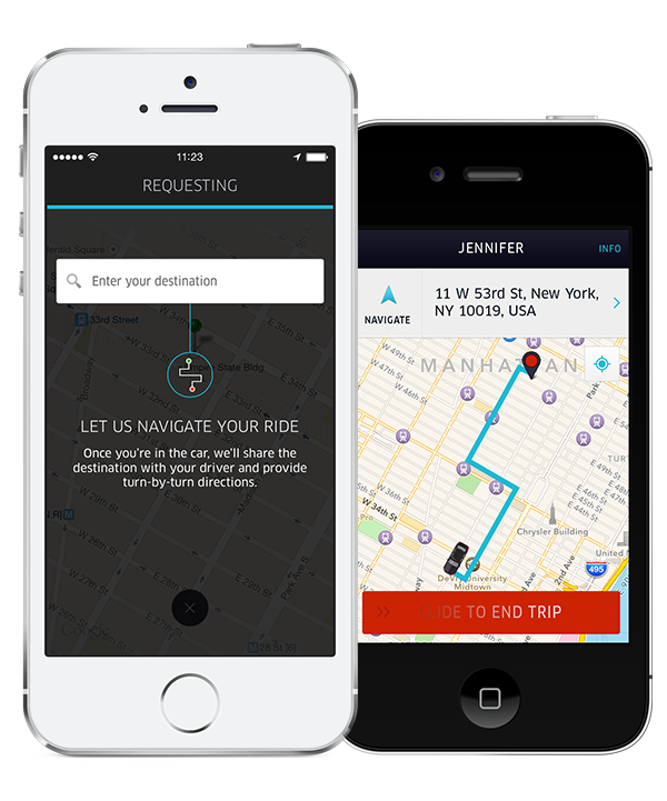 Uber Updates its Passenger App with Destination Entry
