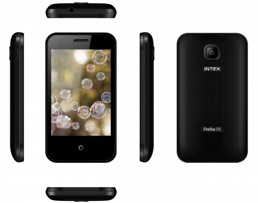 The Intex Cloud FX phone, powered by Firefox OS