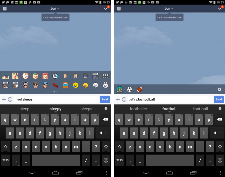 Chat App Line Now Suggests Stickers as you Type