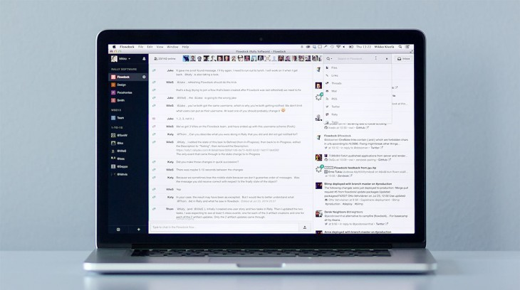 Flowdock team communication platform overhauled with new UI, notifications list and more