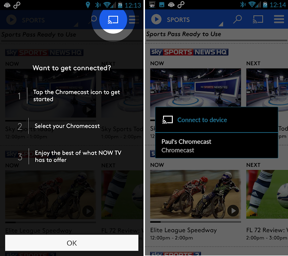 Sky's NOW TV Apps for Android and iOS Add Chromecast Support