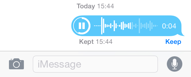 Messages - audio