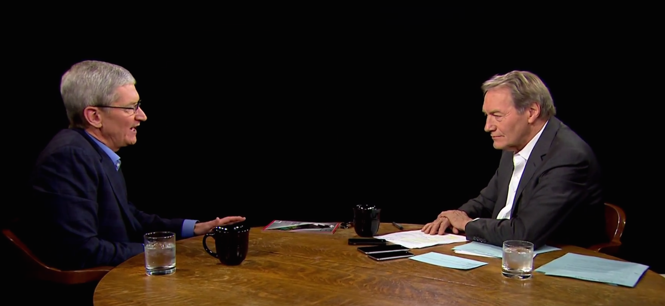 Apple's Tim Cook Talks TV and Steve Jobs with Charlie Rose