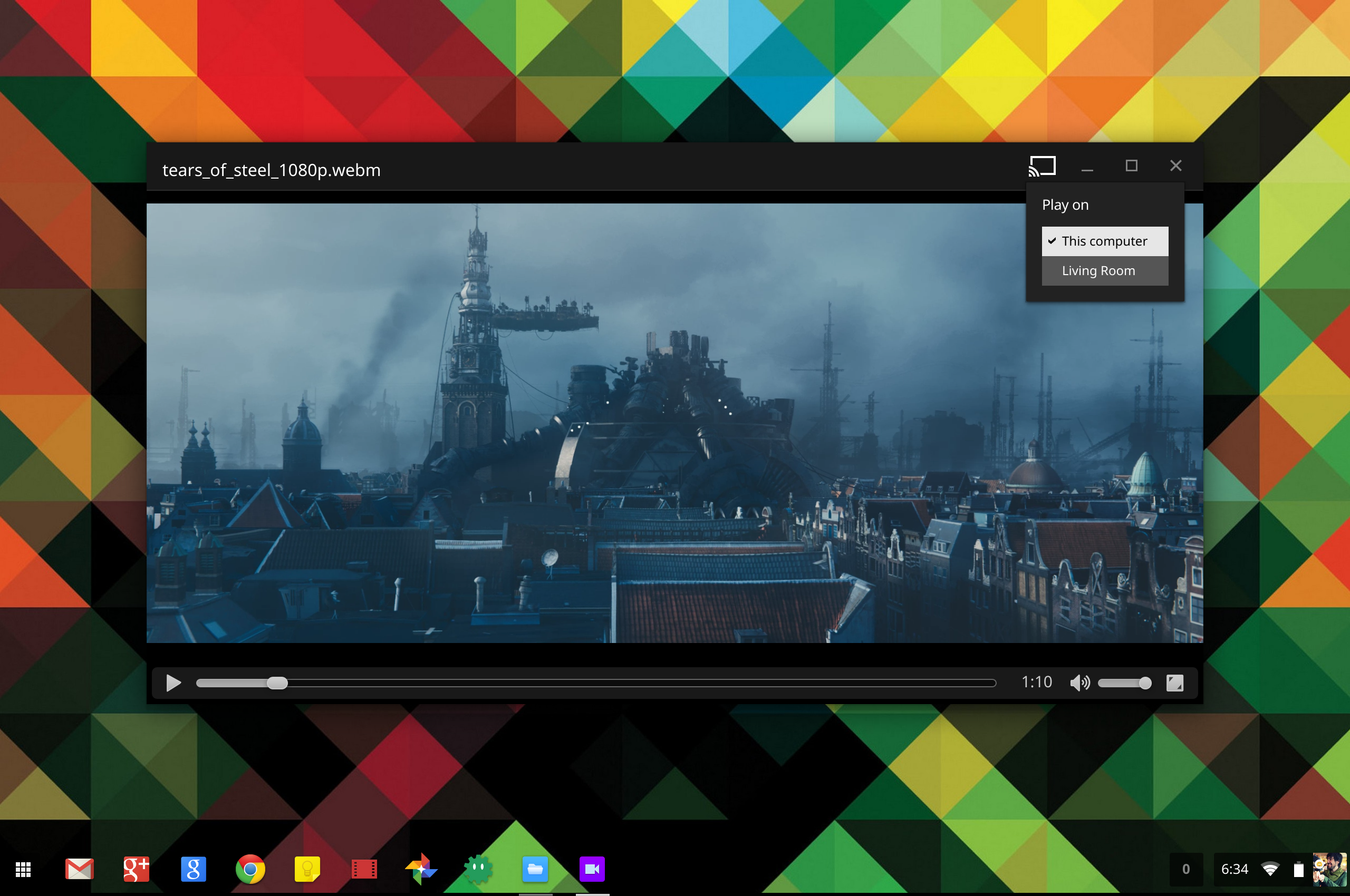 Chromebooks Get Chromecast streaming for Drive Videos