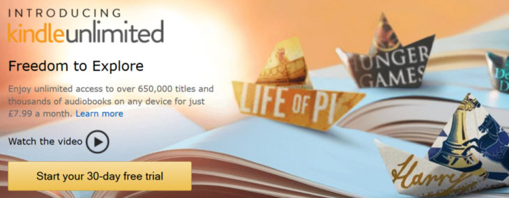 Amazon brings Kindle Unlimited to the UK, an all-you-can-eat book subscription service for £7.99 a month ...