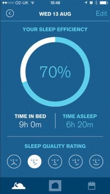 Sleepio sleep efficiency