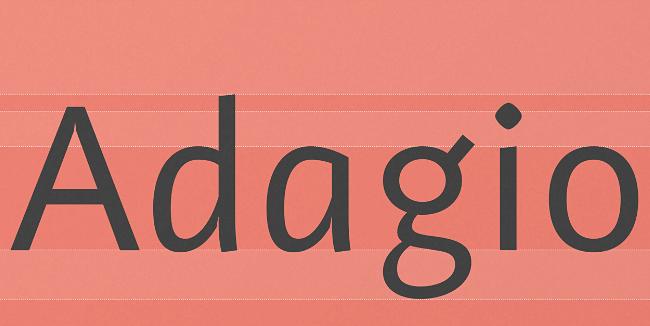adagio-sans-script