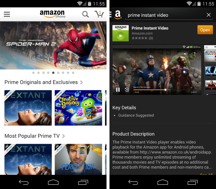 Amazon's Prime Instant Video Arrives on Android